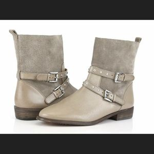 COACH Taupe & Tan Suede Leather Lilliana Boot 9B